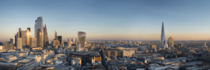 London Skyline with business district